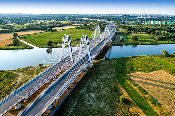 Toll settlement in Poland - motorway bridge