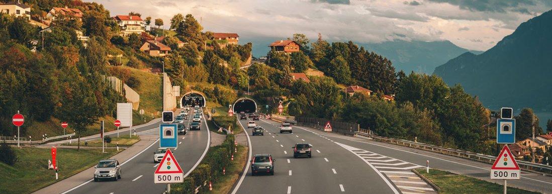 Osztrák autópálya - szimbolikus ábrázolás