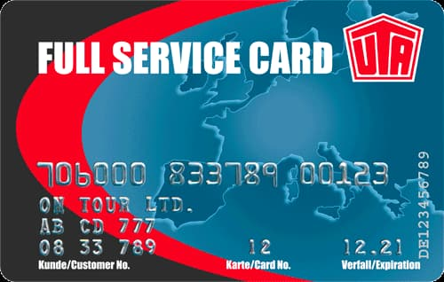 Image de la carte carburant UTA Fuel Service Card