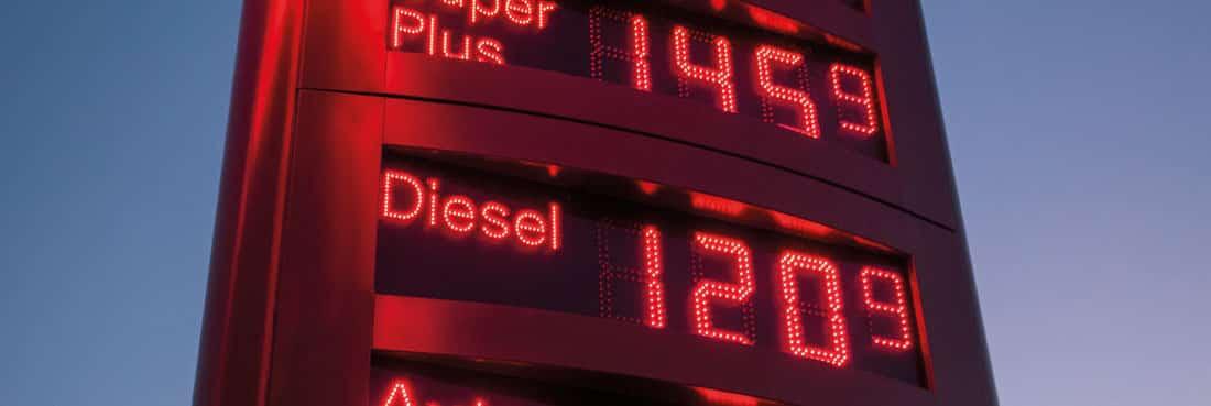 Ceny oleju napędowego w Europie