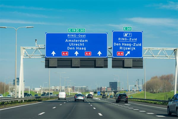 Motorway in the Netherlands - symbolic representation