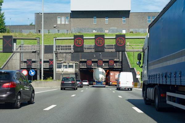 Pago de peajes - túnel en Antwerp
